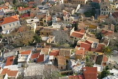 Rooftops of traditional style houses in Plaka.