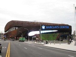 Barclays Center, home of the Brooklyn Nets and New York Islanders in Brooklyn