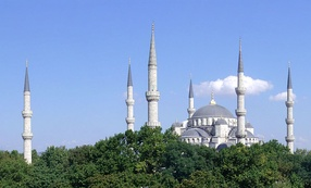 The Sultan Ahmed Mosque, Istanbul, built in 1616.