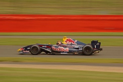 Hartley driving for Tech 1 Racing at the Silverstone round of the 2009 Formula Renault 3.5 Series