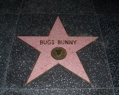 Bugs' star on the Hollywood Walk of Fame.