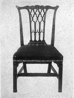 "A provincial Chippendale-style chair with elaborate ""Gothick"" tracery splat back"
