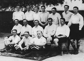 The Corinthian F.C. squad that toured on Brazil in 1910, winning all matches