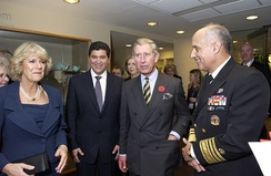 The Prince of Wales and the Duchess of Cornwall with NIH Director Elias Zerhouni and Surgeon-General Richard Carmona, November 2005