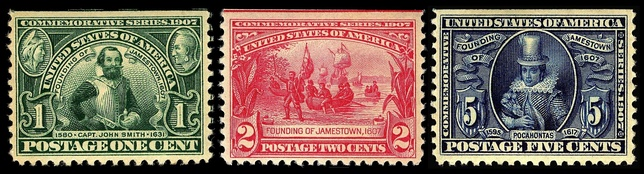 Jamestown Exposition commemorative stamps, 1907 Issue