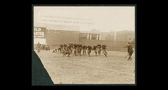Holy Cross takes on Boston College in 1916 at Fenway Park. BC won the game, 17–14.