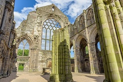 The ruins of the Augustinian Holyrood Abbey