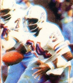 Campbell pictured rushing the ball early in his career with the Oilers