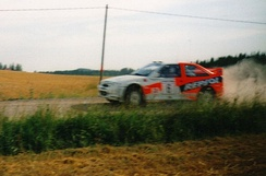 Juha Kankkunen heading for 2nd place on the 1997 Rally Finland
