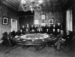 A meeting of the Cabinet of William Lyon Mackenzie King in 1930