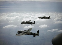 Three 44 Squadron Avro Lancaster B.Is in 1942
