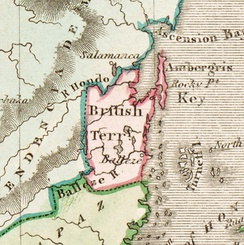 Detail of Belize from Daniel Lizars' 1831 map