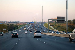 The M1 is a major freeway in Johannesburg