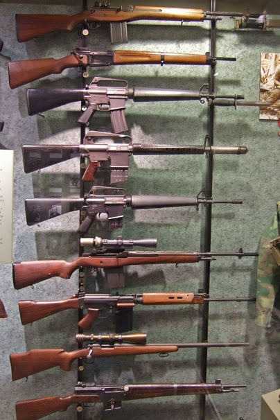 Weapons from Vietnam and Desert Storm at the National Firearms Museum.[14]