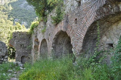 Roman baths in Olympos.