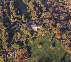 Aerial view of Oprah's Montecito estate