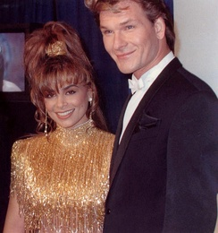 Swayze and Paula Abdul at the 1990 Grammy Awards