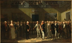 The meeting at Pillnitz Castle in 1791 which created the Declaration of Pillnitz, which threatened an invasion of France