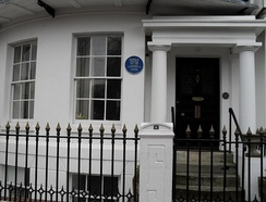 Pinter's home in Ambrose Place, Worthing, where he wrote The Homecoming