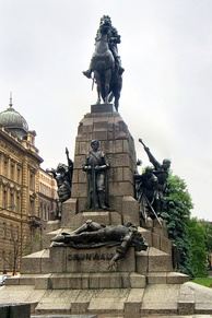 A monument to the Battle of Grunwald was erected in Kraków, Poland for the battle's 500th anniversary. It was destroyed during World War II by the Germans and rebuilt in 1976.
