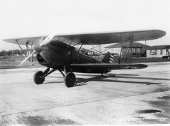 Curtiss P-6A Hawk, with deeper fuselage and new oleo-pneumatic landing gear