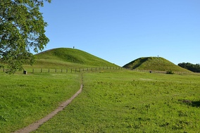 Royal mounds at Gamla Uppsala, an important centre of early Germanic culture.