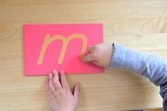 Educational materials like sandpaper letters are designed to appeal to young children's senses.