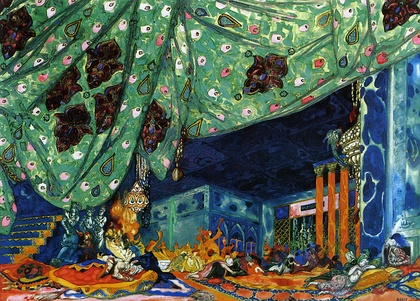 Set design for Sheherazade (1910) by Leon Bakst