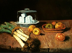 Still life with leeks by Carl Schuch (National Museum, Warsaw)
