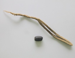 Slings of woven cotton with stones were used by the guecha warriors in battle