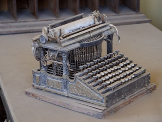 This Smith Premier typewriter, purchased around the end of the 19th century, was found abandoned in the Bodie, California, ghost town.