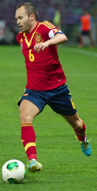 Iniesta playing for Spain in September 2013.
