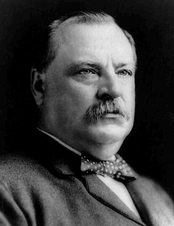 U.S. President Grover Cleveland helped lay the cornerstone