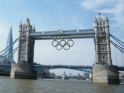 The Tower Bridge at the 2012 Summer Olympics