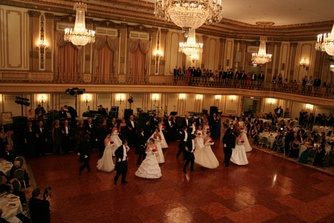 Traditional Ukrainian American debutante ball at Chicago's Palmer House Hotel.