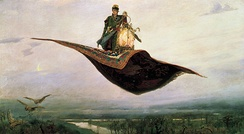 A magic carpet, which can be used to transport its passengers quickly or instantaneously to their destination.