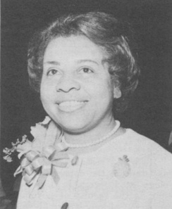 Vernice Ferguson, awarded the honorary degree of Doctor of Science from Marymount College, Virginia, 1977.