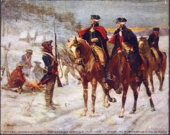 Washington (left) on Nelson at Valley Forge