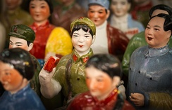 Porcelain statue of a woman in communist China - Cat Street Market, Hong Kong