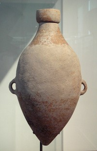 Yangshao culture (ca. 4800 BC) amphora with impressed hemp cord design