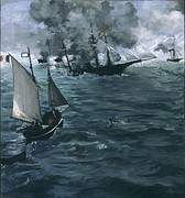 Édouard Manet, Battle of the Kearsarge and the Alabama, 1864