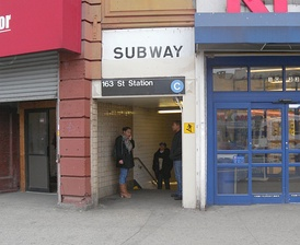 The 162nd Street entrance to the station
