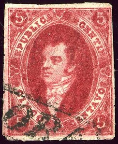 Rivadavia is portrayed on Argentina stamps since 1864.