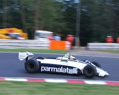 Christian Glaesel driving the BT49D in which he won the 2005 Thoroughbred Grand Prix championship