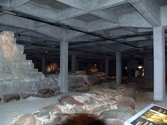 The underground excavations with the ruins of Absalon's Castle