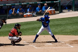 Soriano at bat with the Cubs in 2009.