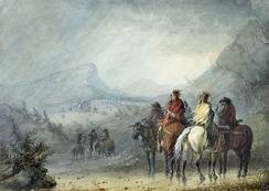 Storm: Waiting for the Caravan, by Alfred Jacob Miller
