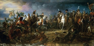 Napoleon at the Battle of Austerlitz, by François Gérard 1805. The Battle of Austerlitz, also known as the Battle of the Three Emperors, was one of Napoleon's many victories, where the French Empire defeated the Third Coalition.