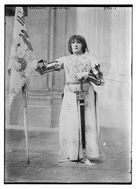 Playing Joan of Arc in Jeanne d'Arc by Jules Barbier (1890)