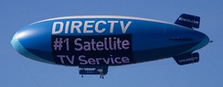 DirecTV blimp flying over West Las Vegas during the Consumer Electronics Show 2015